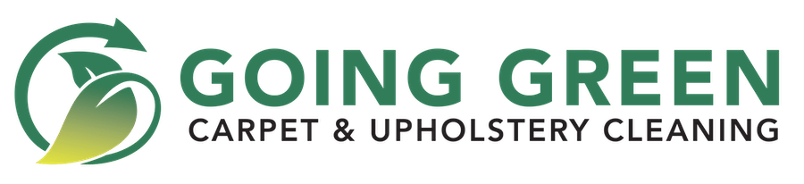 going green carpet & upholstery cleaning logo