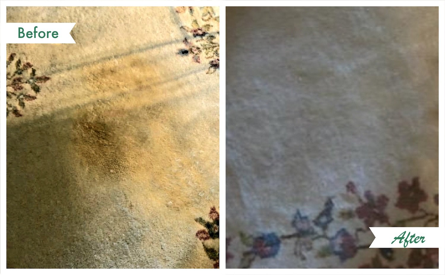 Before and after area rug cleaning in chicago, il